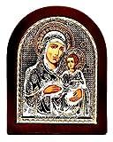 Jerusalem Jungfrau Maria, Byzantinisch, groß, Silber 925, behandelt, Größe 31 x 26 cm