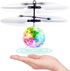 EpochAir Kinder Fliegendes Spielzeug, RC Fliegender Ball, Spielzeug für Jungs, Infrarot-Induktions-Hubschrauber, Drohne mit bunt leuchtendem LED-Licht und Fernbedienung für Kinder, Geschenke für Jungen Mädchen, Indoor-und Outdoor-Spiele.