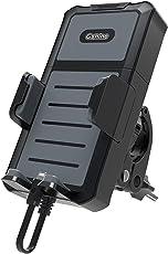 Blueshadow Universal-Handyhalterung & 5200mAh Abnehmbare Power Bank 2in 1auf Bike, Motorrad für Alle Smart Phones, GoPro und GPS Navigation Zwischen 10,2–15,2cm mit 180Grad Rotation