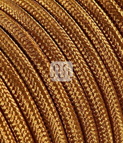 Elektrische Kabel in farbigem Stoff beschichtet. Made in Italy! 2x0, 75 Farbe: Bronze Whiskey - Fantasy-bronze-kronleuchter
