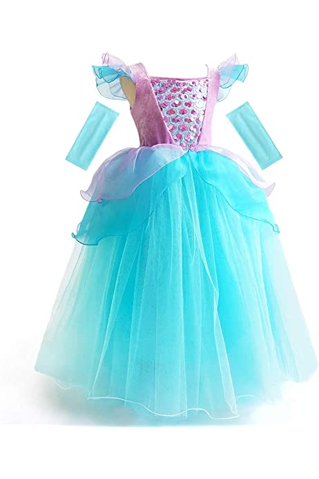 UK Stock Fairy Tale Cinderella Cosplay Costume girl Party Fancy Dress 3-8 Years