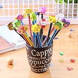 CHSYOO 30 x hardheid HB-potloden met gumset, feestartikelen voor verjaardagsfeestje Kinderfeestzakje Vulstoffen Schoolbelonin