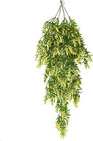 JKoYu Artificial Flowers Plants Decoration,1Pc Artificial Lavender Fake Flower Wall Hanging Vine Rattan Wedding Party Decor