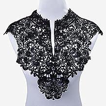 yulakes 2pcs cuello de encaje insertar collar collar decoración para vestido DIY Handwork parte delantera +