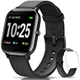 AIMIUVEI Smartwatch, Reloj Inteligente IP67 con Pulsómetro, Presión Arterial, 7 Modos de Deportes y GPS, Monitor de Sueño Cal