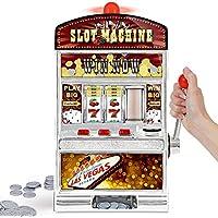 Preisvergleich für Monsterzeug Glücksspiel Automat Einarmiger Bandit, Slot Machine. Geldspielautomat mit Lichtern, XXL Glücksspielautomat, Casino Automat mit Soundeffekten, Spardose, Spielmünzen