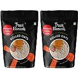 True Elements Oats 1kg * 2 - Gluten Free Rolled Oats, Breakfast Cereal, Plain Oats for Weight Loss