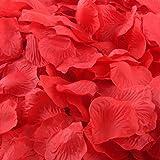 CHSYOO 1000 x Rose Artificiali Foglie Rose Fiori Confetti, Decorazione Romantica Accessori per Matrimonio Compleanno Festa Fe