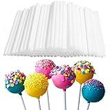 Apolline INDIA100 Pieces(White)-6 inces-Plastic Lollipop Sticks, Safe Food Sticks, Chocolate Cake Lollipop, Sweet Candy Desse