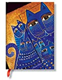 Laurel Burch Katzen Mittelmeer - Notizbuch Midi Liniert - Paperblanks - Laurel Burch