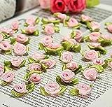 ddfly 100Mini Fleck Schleifen, Rosen Blumen Nähen DIY Craft Künstliche Ornament Aufnäher rose