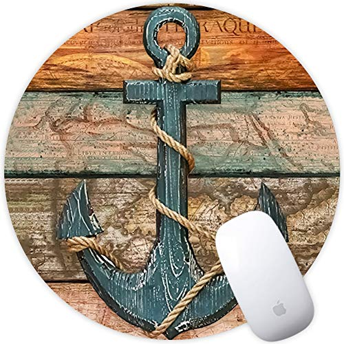 auspad Anti-Rutsch-Gummi-Mauspad Schreibtisch-Pad Desktop-Dekor-Gamer-Mauspad Spezielle Oberfläche erhöht die Geschwindigkeit und Präzision von 200 * 200 * 3mm Piratenschiff ()