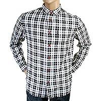 Armani Jeans, colore: grigio a quadri S6CO2 AJM1182 FX-Maglietta a maniche lunghe