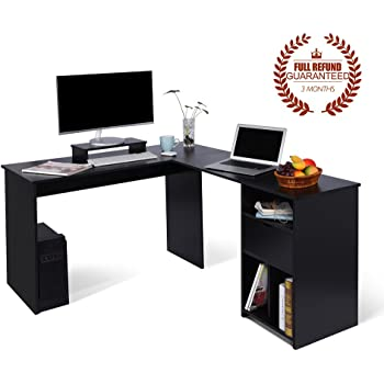 ej life l shaped office computer desk large corner pc table with