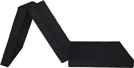 Badenia Gästematratze, 3-teilige Klappmatratze, 196 x 65 cm, schwarz
