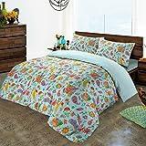 Nimsay Home Gemma Water Floral T230 100% Cotton Duvet Cover Set - Blue - Double