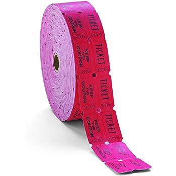Rouge Unit/é red Gardez un rouleau d/étiquettes 59005 Blanc PM Soci/ét/é double Deposit One 1/rouleau de 2000/tickets