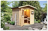 Sauna finlandese da giardino esterno AIDA con ANTICAMERA