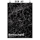 Mr. & Mrs. Panda Poster DIN A2 Stadt Remscheid Stadt Black
