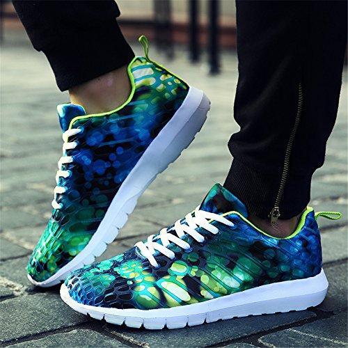 Unisex Sneaker Uomo Donna Scarpe da Corsa Leggero e Confortevole Colorato Verde chiaro