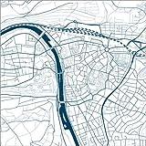 Poster 60 x 60 cm: Stadtplan von Würzburg von 44spaces -
