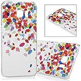 Samsung Galaxy S7 Edge Coque - Lanveni® PC Plastique Coloré Phone Case Transparent Protection de Smartphone - Feuilles Tombées
