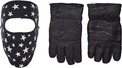 H-Store Balaclavas MaskUnisex Balaclava (Blue) Filter Anti Pollution Dust Sun Protecion Face Cover Mask With Black Winter Gloves/ Bike Gloves/ Biker Gloves/ Motorcycle/ Bike Racing/ Riding/ Gym / Fitness / Full Fingers Gloves Best Grip For Men Women