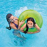 30 Inch Inflatable Swim Ring - Blow Up Floating Tube Raft Tube For Swimming Pool Beach For Age 8+ Years (Green)