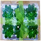 Ratnatraya Green Diamond Shapped Set Of 6 Decorative Gel Floating Diya For Home Decoration, Inside And Outside