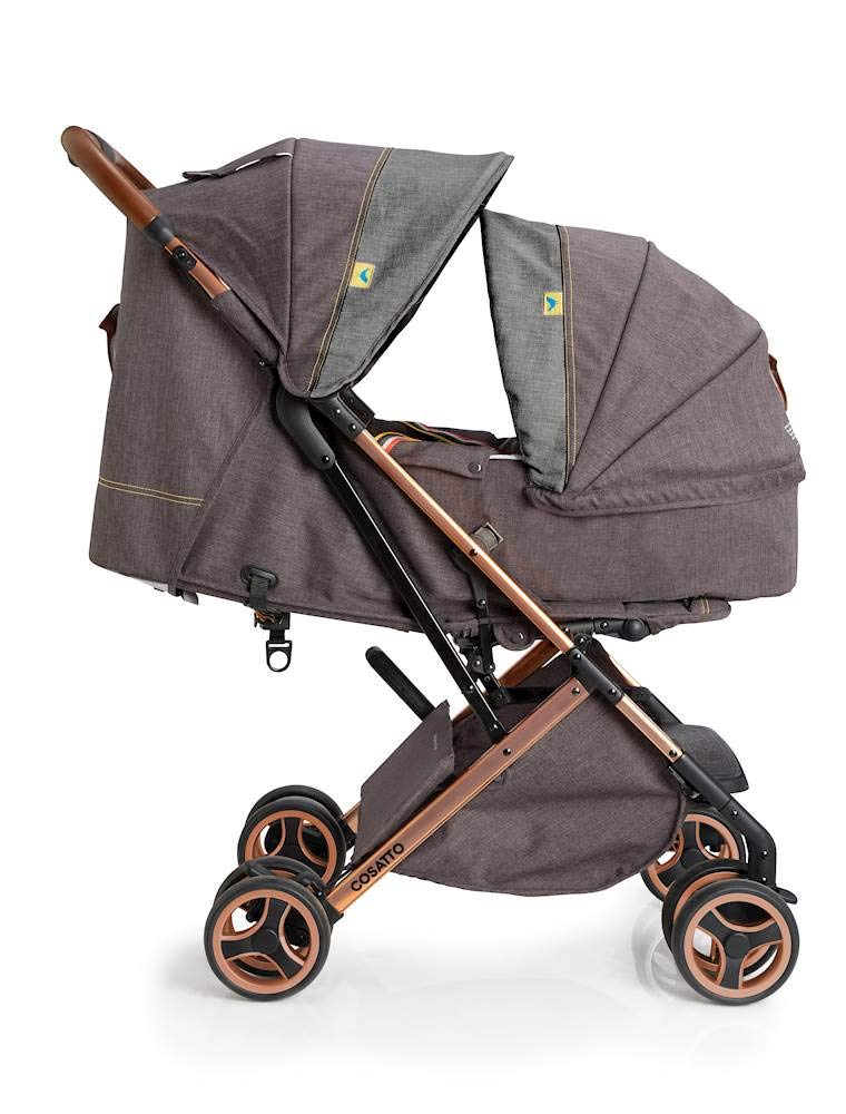 Cosatto Woosh XL Pushchair, Suitable from Birth to 25 kg, Mister Fox Cosatto Compact from-birth pushchair. carries up to 25kg child, so you can use it for longer. Hands full? it's lightweight with one-hand fold into compact bundle. easy to store. It can even carry dock 0+ car seat (sold sep) just pop onto the adaptors (sold sep). 2