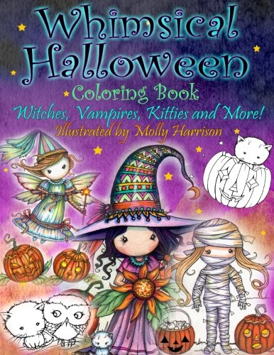 Whimsical Halloween Coloring Book: Witches, Vampires Kitties and (Crafts Halloween)