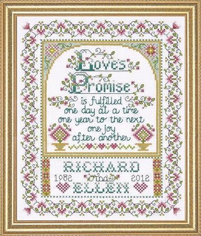 Design Works Loves Promise Cross Stitch Kit, Multi-Colour