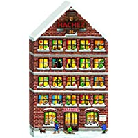 Hachez Adventskalender in Form eines Hauses mit Pralinen und Chocoladen gefüllt, 1er Pack (1 x 180 g)