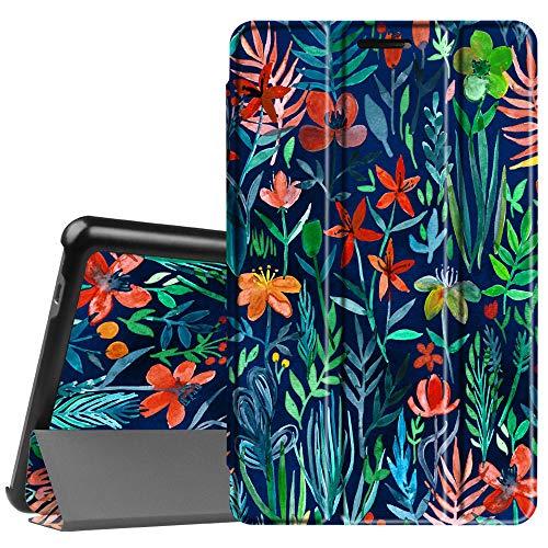 Fintie Huawei Mediapad T3 8 Hülle Case - Ultra Dünn Superleicht SlimShell Ständer Cover Schutzhülle Tasche mit Zwei Einstellbarem Standfunktion für Huawei T3 20,3 cm (8,0 Zoll), Dschungelnacht