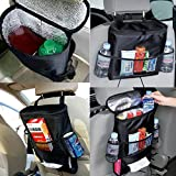 Shopo Multi-Pocket Car Back Chair Seat Cooler Bag Storage Organizer (Multicolour)