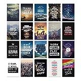 20er Postkarten Set MOTIVATION mit Sprüchen von VISUAL STATEMENTS® / Hochwertige Spruchkarten / 350g Bilderdruckkarton / 12 x 17,5 cm (XXL) / 20 verschiedene Motive / 20er Set MOTIVATION