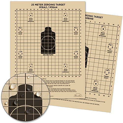 Rite in the Rain Allwetter 25Meter Target, 81/5,1x 27,9cm Tan, M16A2/M16A4vorne, M4Karabiner hinten, 100Blatt Pack (Nr. 9125)