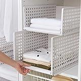 Mioloe - 1 pcs Placard de Rangement Organisateur en Plastique étagères Amovibles paniers de Rangement tiroirs boîtes de Range