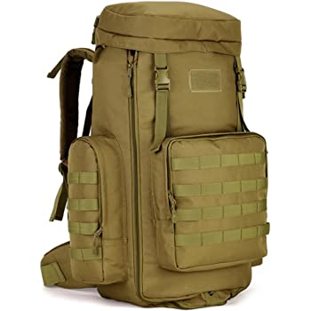 89b897a35ea9 SUNVP 70-85L Tactical Molle Backpack Large Waterproof Assault Pack Military  Gear Equipment Hiking Camping Rucksacks Brown