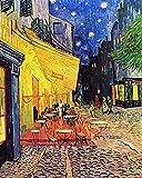 Legendarte P-187 Quadro di  Vincent Van Gogh - Terrazza del Caffè la Sera, Stampa digitale su tela, Multicolore, cm. 80 x 100