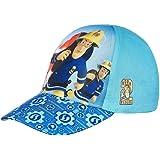 Sam el bombero Gorra de béisbol, casquete caperuza, para niños, Niñas y niños, Ajustable con Velcro Azul Claro/Azul/Azul Oscu