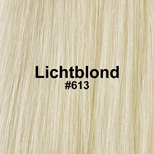 Bonding Extensions 25x 1g Echthaar-Strähnen Keratin Haarverlängerung 50cm Glatt (#613 (Lichtblond))