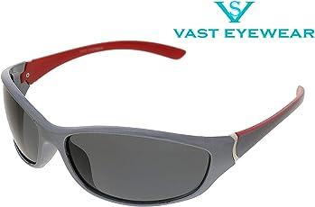 Vast UV Protection Unisex Sport Sunglasses (PREMIUM C5_RED_GREY)