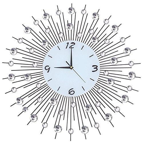 Vinteen Moderne Mode Wanduhr Handcrafted Perlen Crystal Jeweled Kreative Wohnzimmer Stumme Horologe Europäischen Stil Eisen Dekorative Kunst Persönlichkeit Einfache Uhren ( Größe : Diameter75 )
