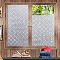 """Lifetree Privacy Window Film Frosted Window Stickers Non-Adhesive Static Glass Window Blinds 45 * 200cm (17.7""""*78.7"""") for Bedroom Bathroom Living Room Office"""
