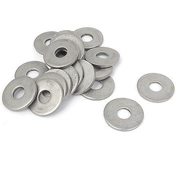 sourcingmap/® 100pz M4x7mmx0.5mm metrica in acciaio inossidabile rotondo rondella piatta per vite bullone