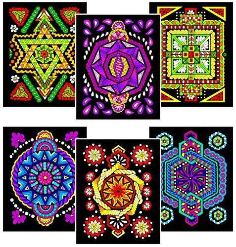 Triangle, Octagon, Square, Circle, Pentagon, Hexagon - Six 8x10 Fuzzy Velvet Coloring Posters