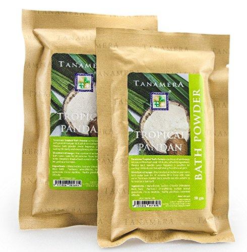 Tanamera Tropisches Pandan-Badepulver 50 g Duftendes Badepulver zur Entspannung