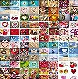 100-er Postkarten-Box LOVE-CARDS von Edition Colibri: Postkarten-Set zum Thema Hochzeit und Liebe mit 100 verschiedenen Herz-Postkarten im DIN A 6-Format in einem edlen Karton (10794-10939)