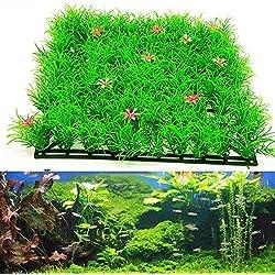 Huhuswwbin Künstliche Pflanzen Grün Künstliche Wasserpflanze Aquarium Aquarium Aquarium Realistische Gras Rasen Ornament – Grün
